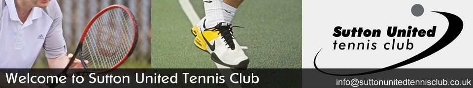 Welcome to Sutton United Tennis Club. Email us at info@suttonunitedtennisclub.co.uk